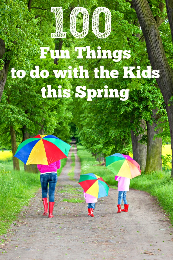 Spring activities and spring crafts for kids - outdoor ideas, indoor fun things to do!