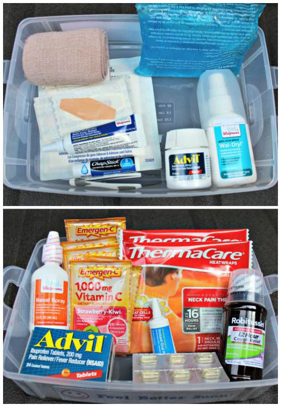 first aid supply list for medical kit for college students
