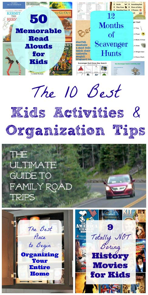 best kids activities and organization tips for families