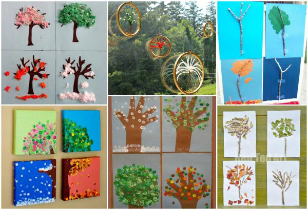 four seasons of a tree art for kids
