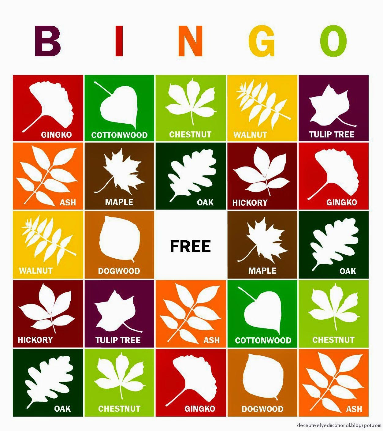 Leaf BINGO game