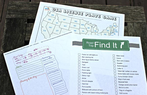 free road trip activities for your road trip checklist
