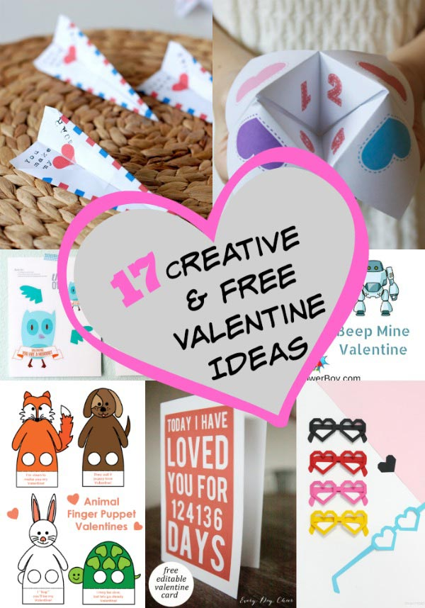 17 Creative (& FREE) Printable Valentine Cards