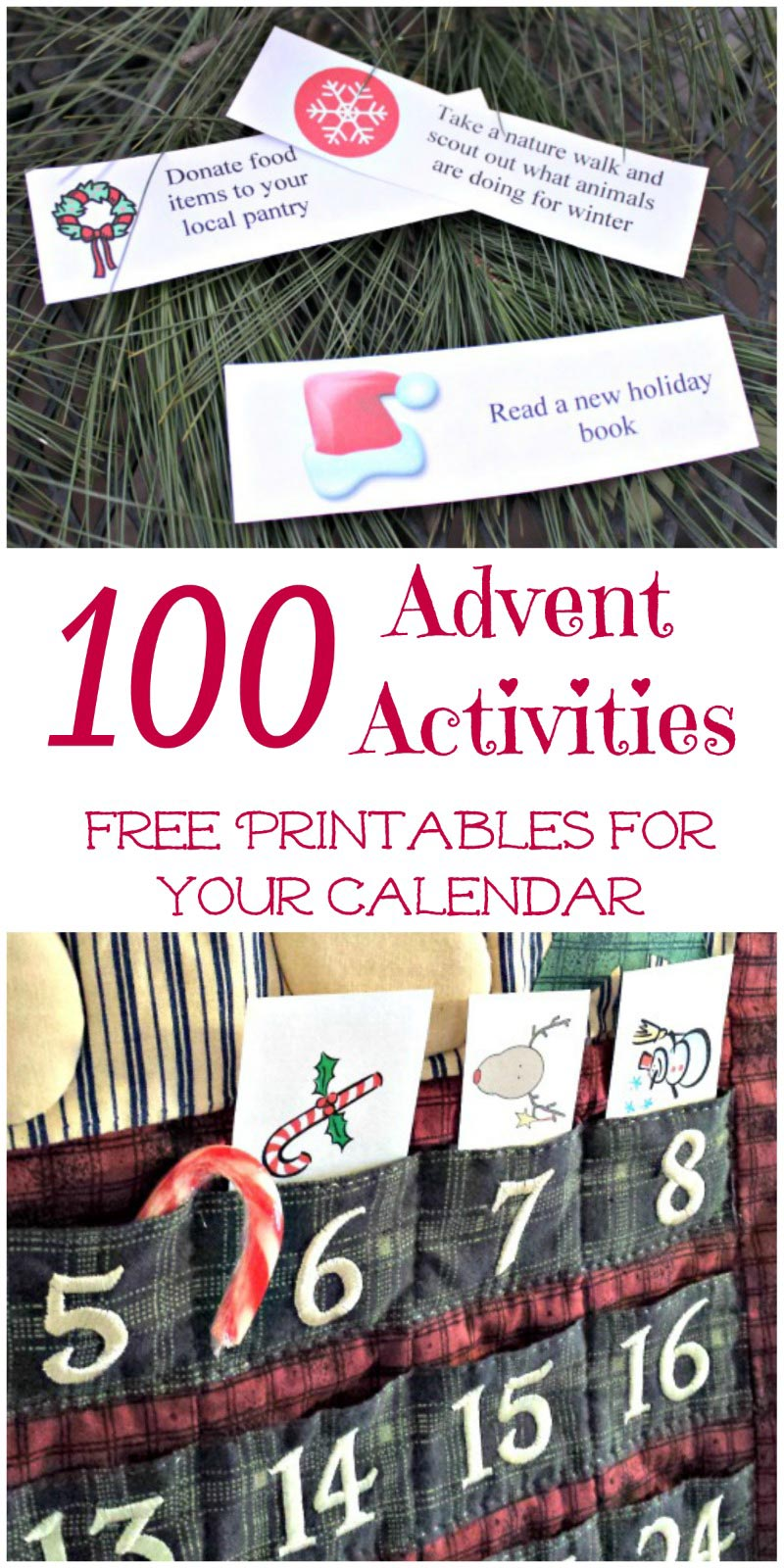 Advent calendar activity ideas - fillers and family fun