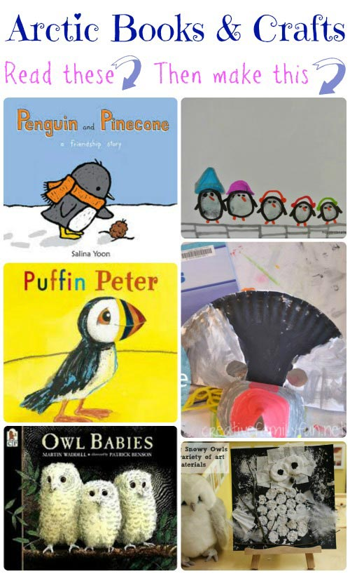 arctic animal crafts and books