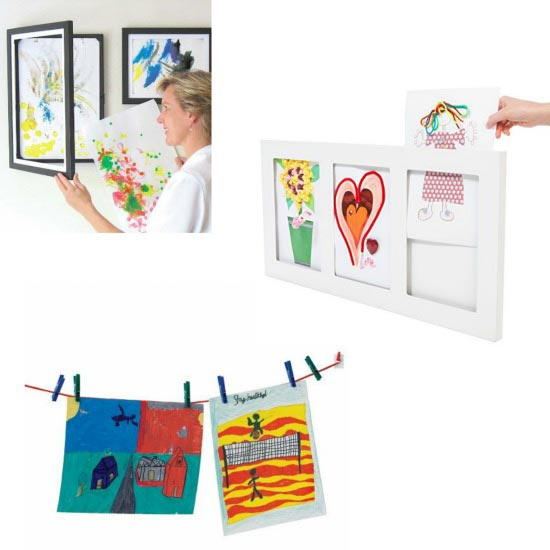 How to display kids artwork around the house