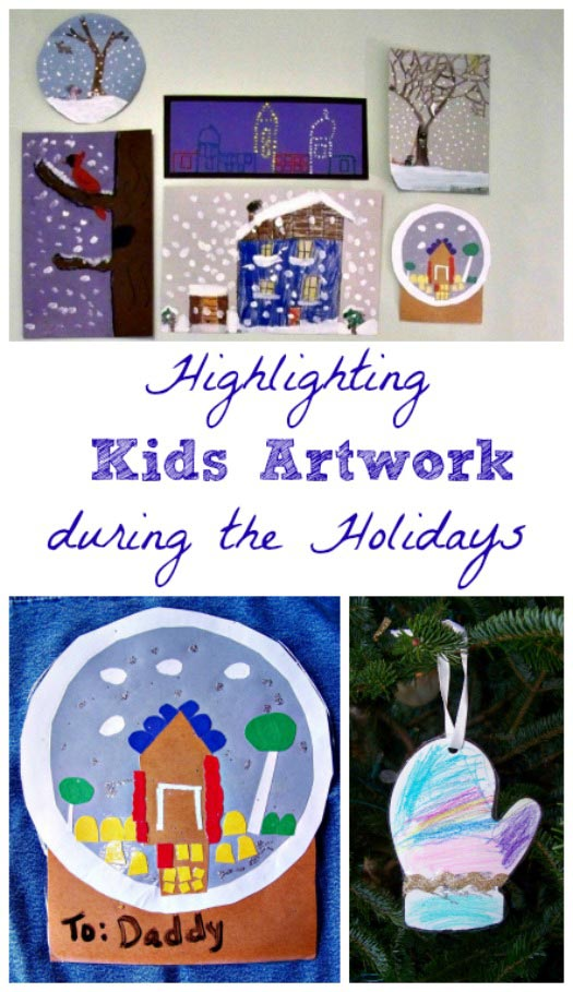 best ways to use kids' artwork for holiday decorating