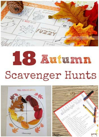 fun fall scavenger hunts
