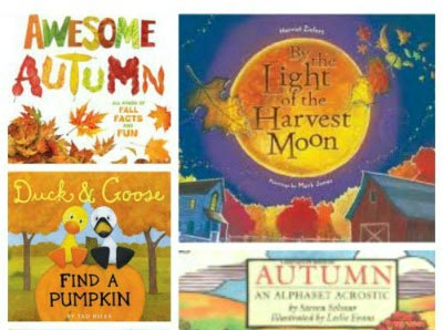 autumn books and activities for a Fall themed lesson plan