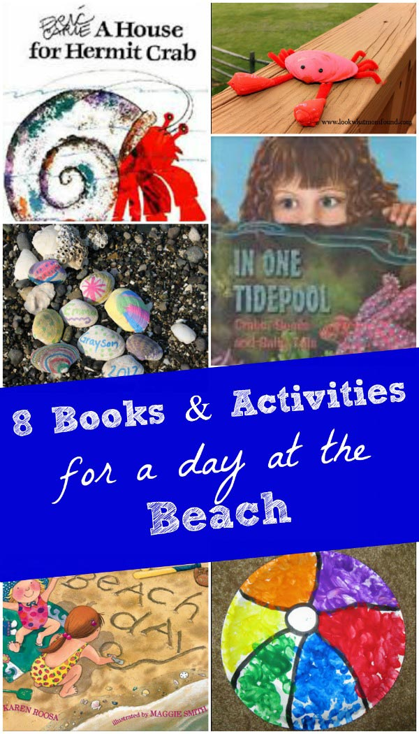Fun things to do at the beach with kids - great books and activities!