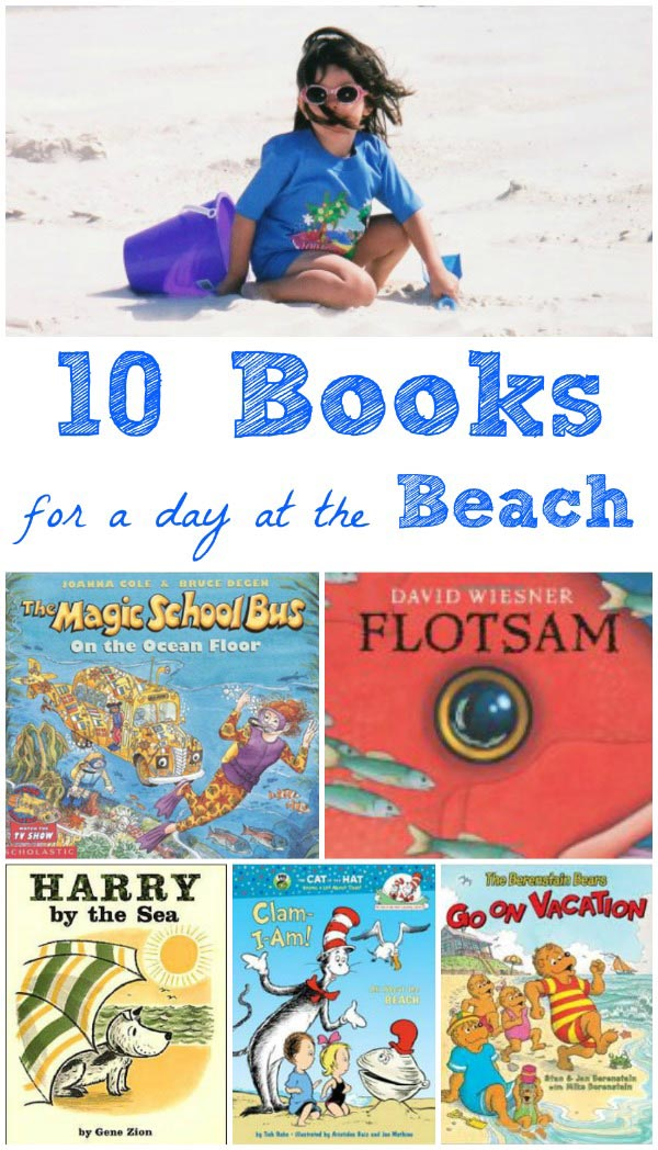 Books for kids about fun things to do at the beach