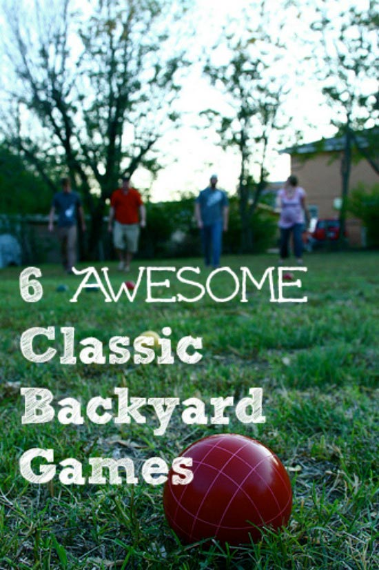 Awesome Retro Games for the Backyard -- perfect for the whole family!