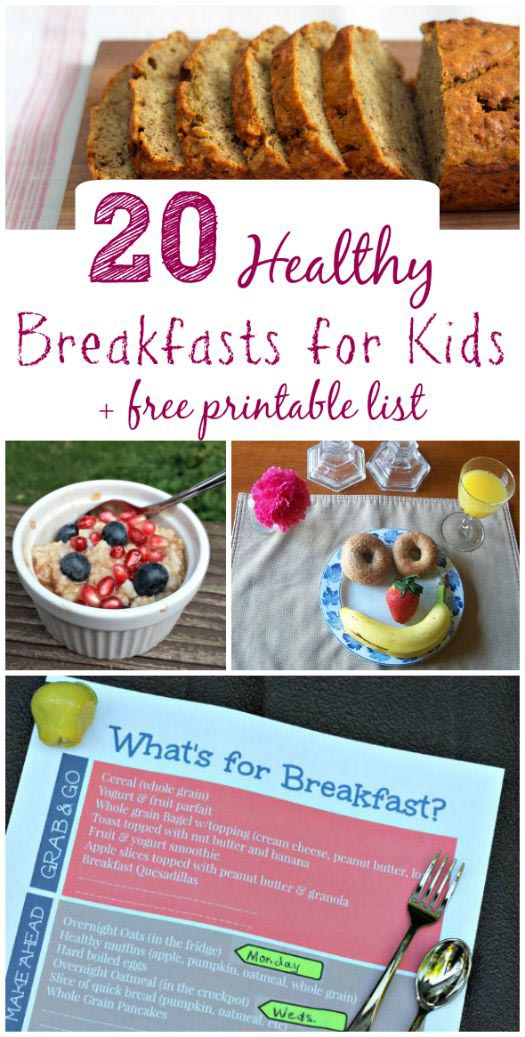 healthy breakfast ideas with free printable meal planner
