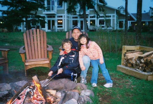 campfire at rental home