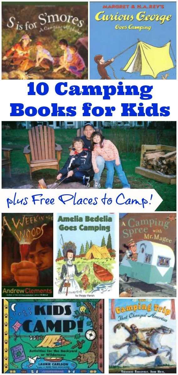 camping books for kids + free places to camp too!