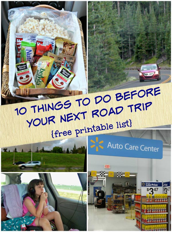 Great tips for your next road trip with checklist for the car and family!