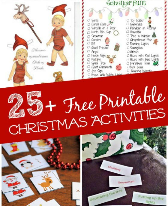 christmas free printable games