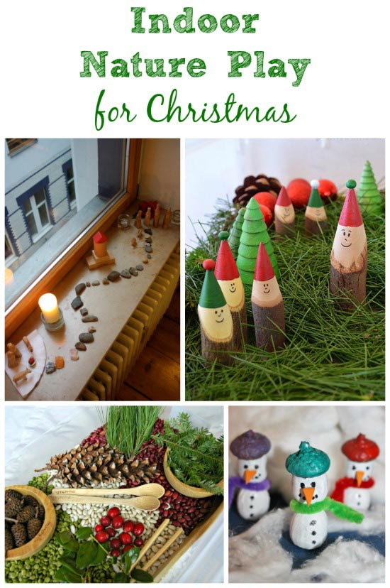 Fun ways to bring nature inside for Christmas play