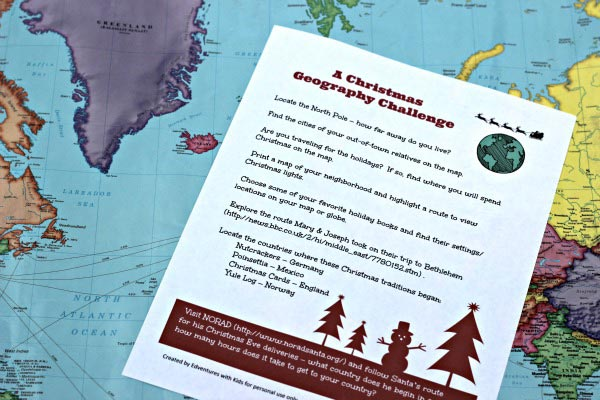 christmas around the world geography activity for kids