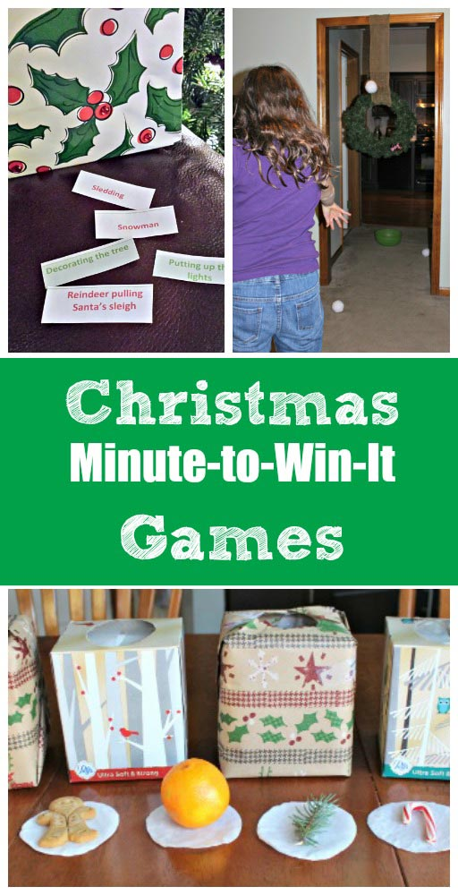 Great Christmas minute to win it games for the family or a class party!