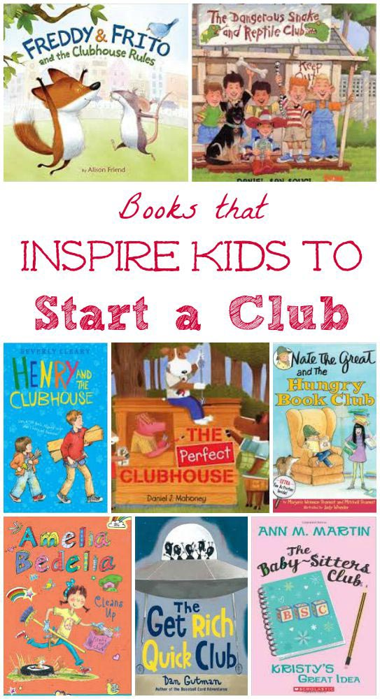 Great kids books about how to start a club!