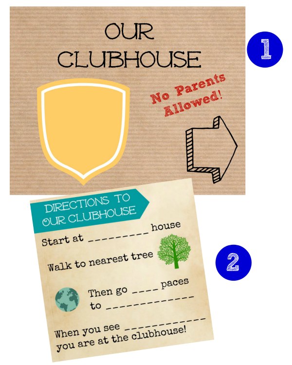 Printable sign for a Club for Kids