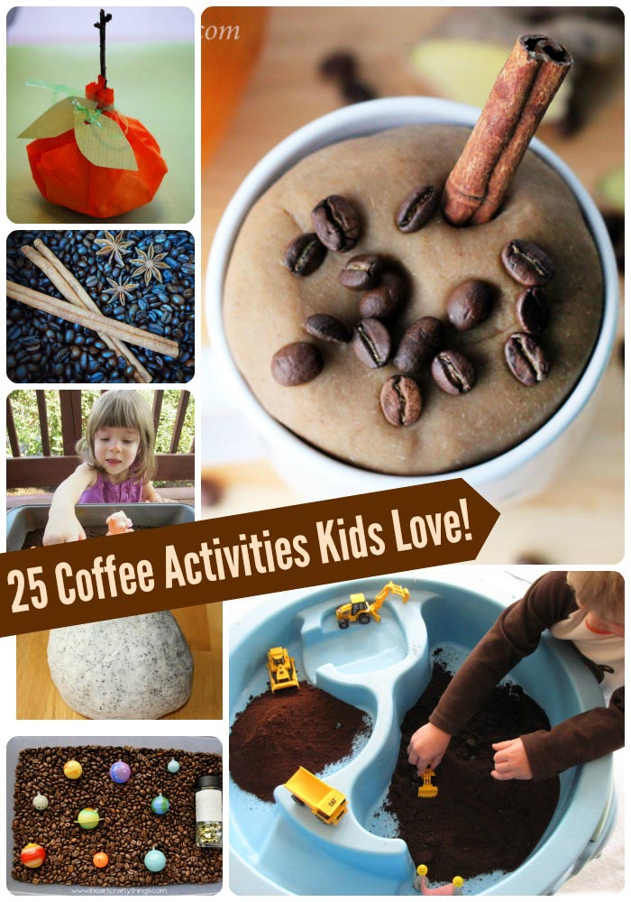 Coffee related crafts & activities for kids