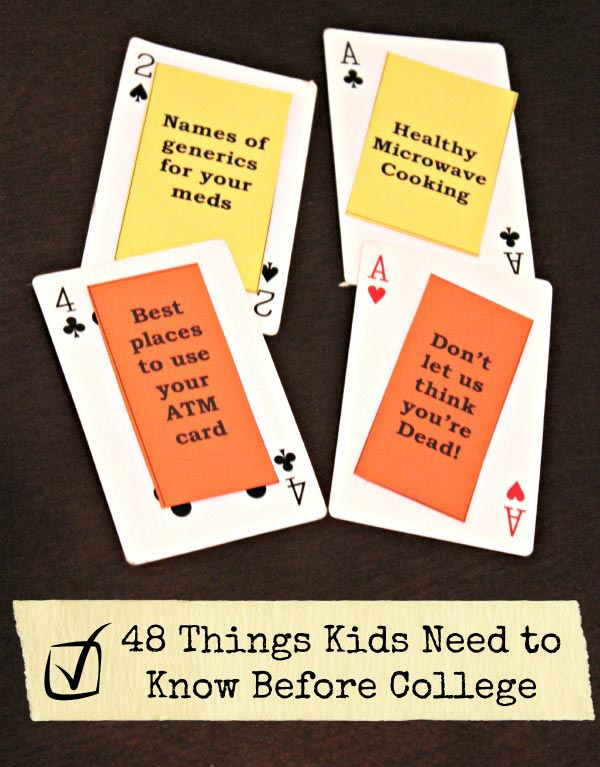 Great List of What Kids Should Know Before College | Edventures with Kids