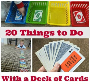 kids card activities