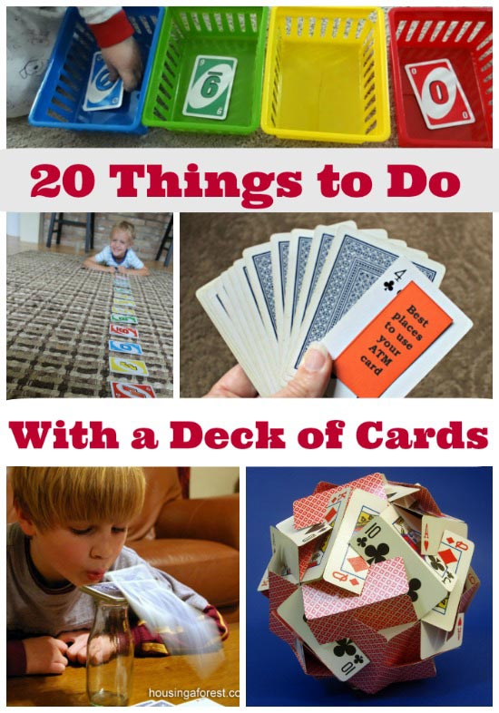 Card games and activities for kids