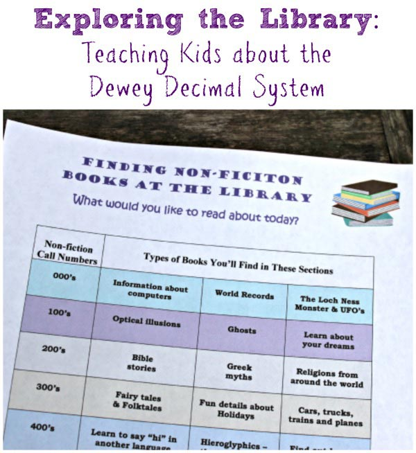 Teaching kids about the Dewey Decimal system