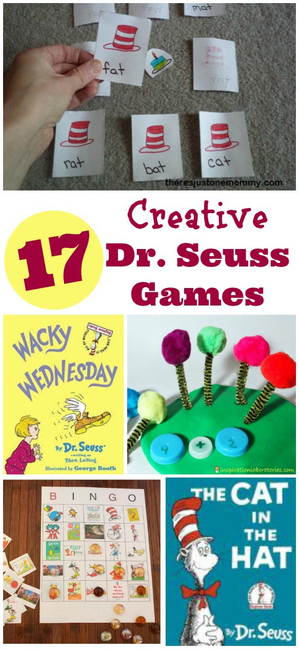 Dr Seuss and Cat in the Hat games and activities for kids