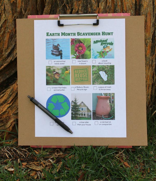 Earth Day Scavenger Hunt printable