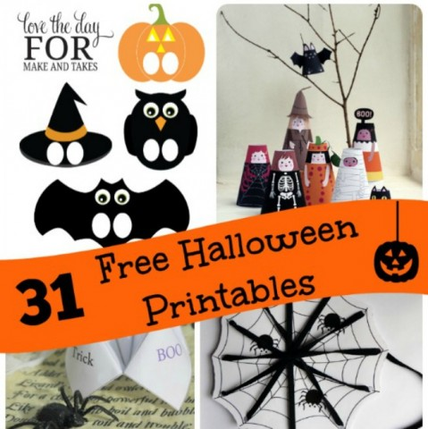 Free printable Halloween activities and games!