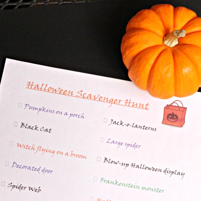 Halloween Scavenger Hunt - fun idea for kids and tweens!