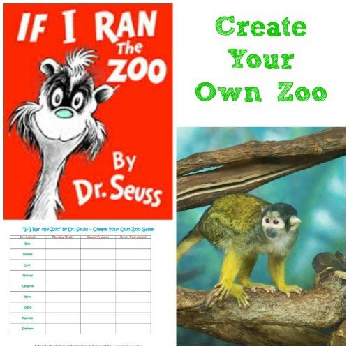 Dr. Seuss Activities: Wacky Wednesday Ideas, Zoo Game