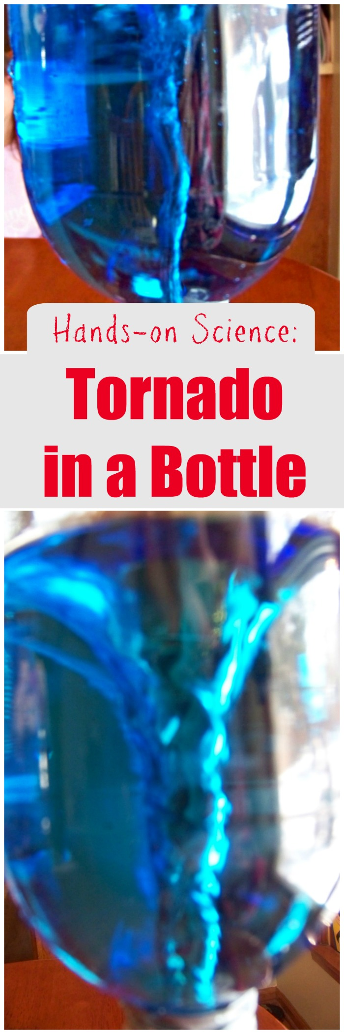How to make a Tornado in a bottle | weather science experiment for kids