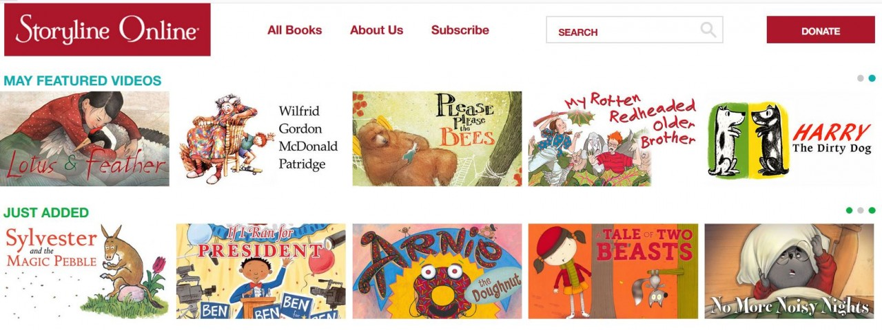Storyline free online read aloud picture books