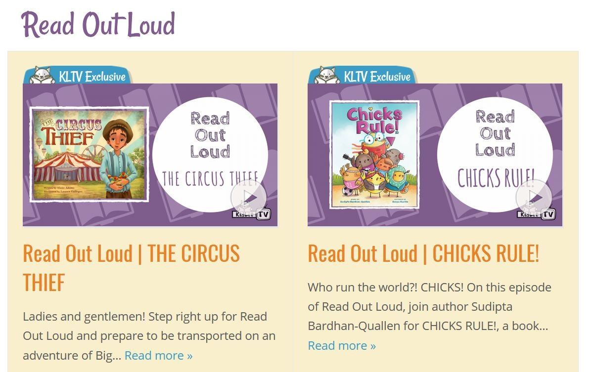 Websites for FREE Read Aloud books