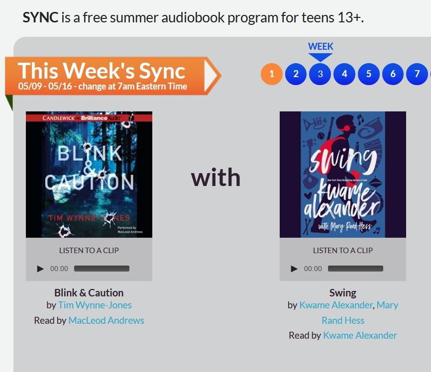 Free audio books and read alouds for teenagers