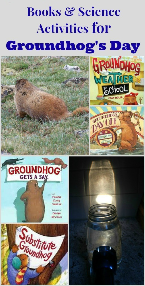Groundhog day Science activities and Books for preschool and elementary kids