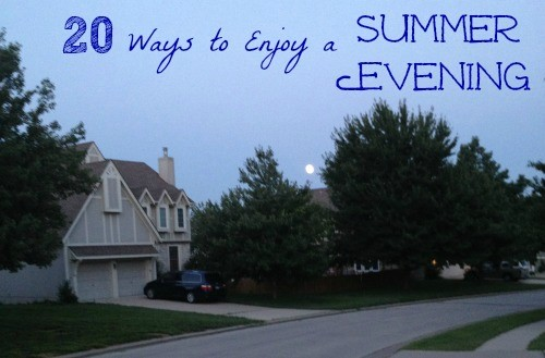 20 FUN Things to do on a Summer Night
