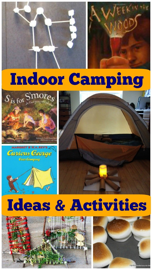 Fun ideas for indoor camping - activities for sleep-overs, family camping and school break ideas!