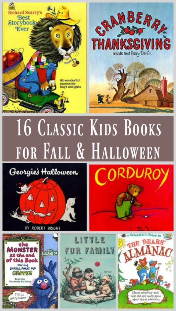 Best Fall and Halloween books for kids - classic and vintage stories adults love too!