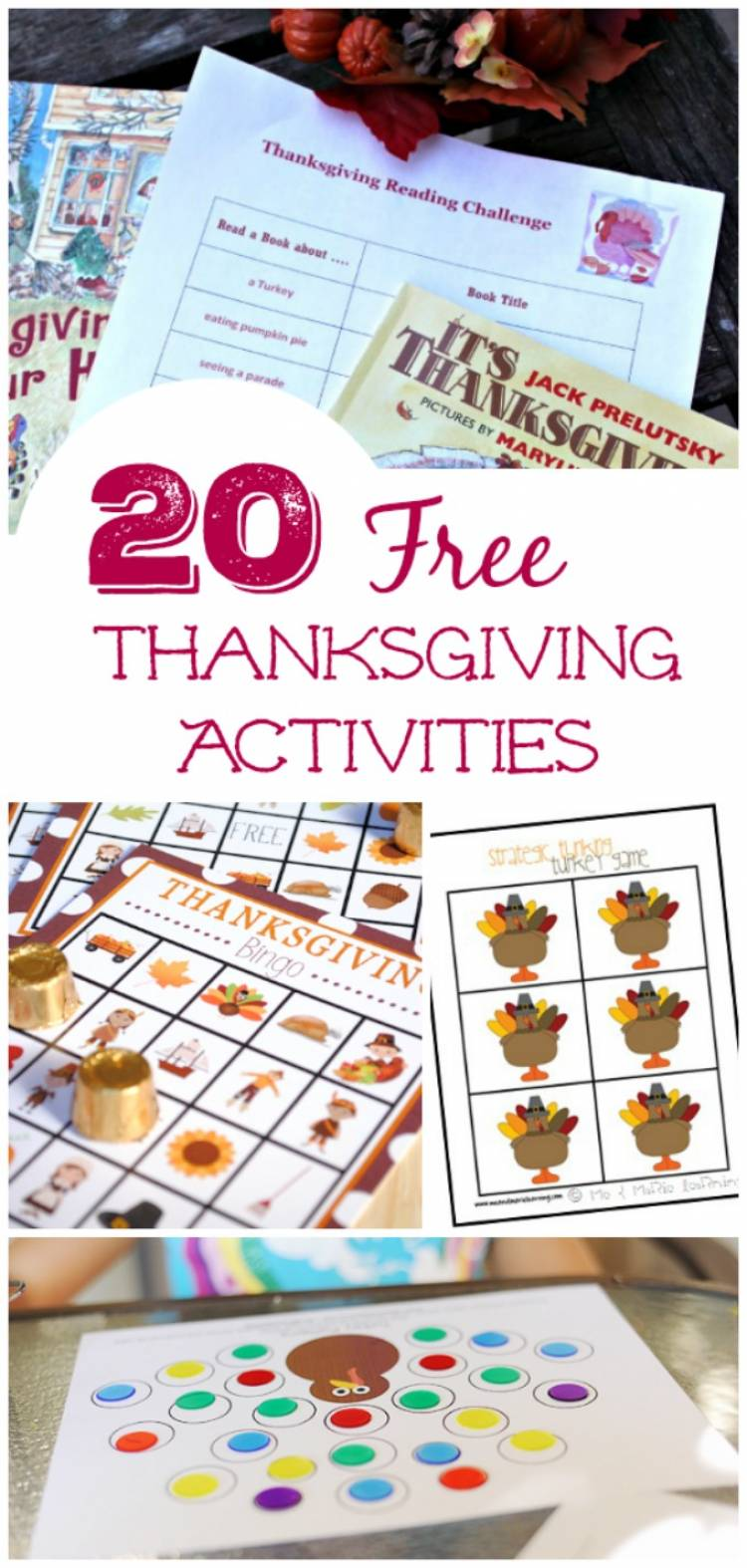 20 free thanksgiving printable activities for kids - Free Kids Printable Activities