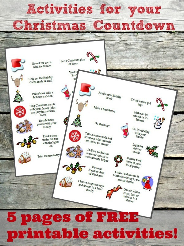 100 Advent Calendar Ideas Activities