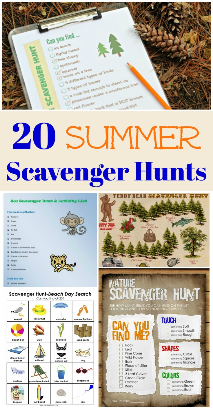 photograph relating to Family Reunion Scavenger Hunt Printable titled 20 Summer time Scavenger Hunt Programs (printable!) - Edventures