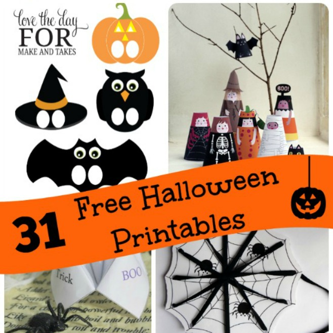 picture regarding Free Printable Halloween Crafts referred to as 31 Printable Halloween Game titles Actions Cost-free