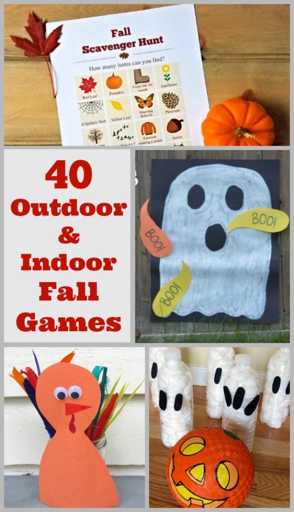 Fall games - indoor and outdoor autumn themed and halloween games!