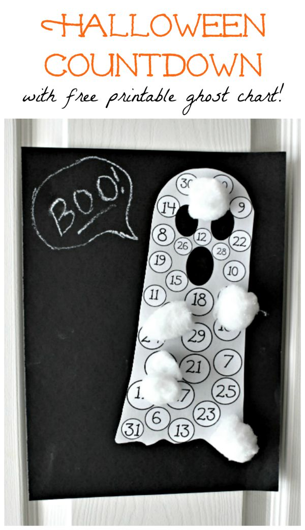 DIY Halloween Countdown Calendar for Kids - how many days until Halloween?!